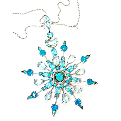 Blue Snowflake Necklace 400 x 400