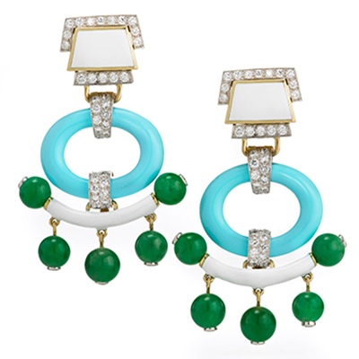 David Webb Pagoda Earrings 400