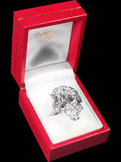 Elizabeth taylor pear shaped engagement ring