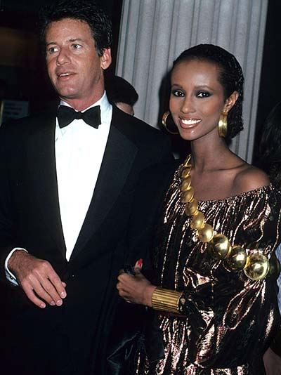 Calvin Klein and Iman (Photo by Rose Hartman/WireImage)