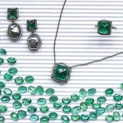 The AdventurinePostsGemfields x Muse: Savannah Stranger's Sweet Sugarloaf Emerald Jewels