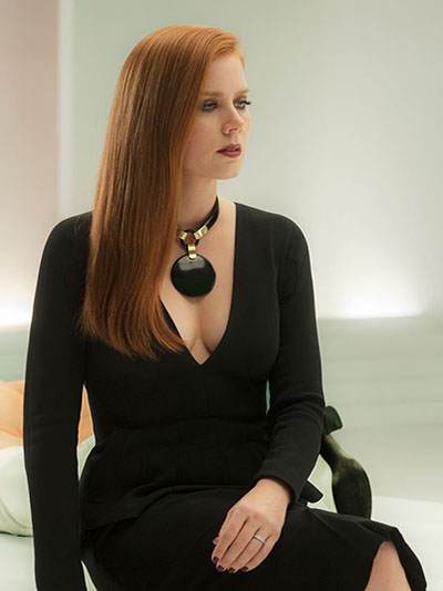 Amy Adams wearing a black jade Lisa Eisner necklace in 'Nocturnal Animals' Photo Focus Features