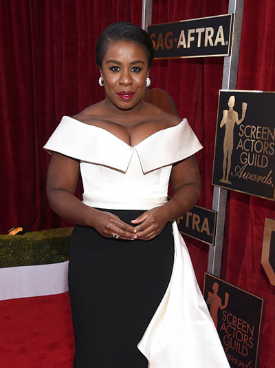 LOS ANGELES, CA - JANUARY 29: Actor Uzo Aduba attends The 23rd Annual Screen Actors Guild Awards at The Shrine Auditorium on January 29, 2017 in Los Angeles, California. 26592_009 (Photo by Dimitrios Kambouris/Getty Images for TNT)