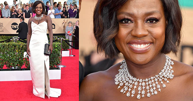 Actress Viola Davis arrives for the 23rd Annual Screen Actors Guild Awards at the Shrine Exposition Center on January 29, 2017, in Los Angeles, California. / AFP / FREDERIC J. BROWN (Photo credit should read FREDERIC J. BROWN/AFP/Getty Images)