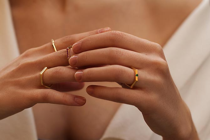 Rings from the Valani collection Photo courtesy