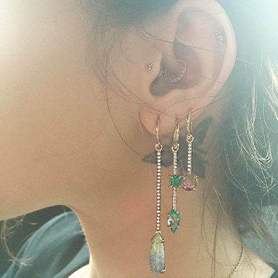 The Adventurine Posts Irene Neuwirth's Spin On Single Earrings
