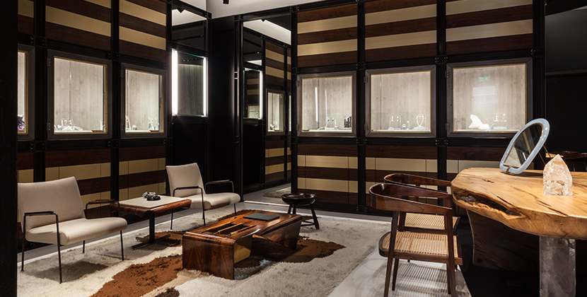 The Seating Area Of The Ara Vartanian Boutique In London Featuring Mid Century  Brazilian Furniture And A Wood Table With Amethyst Legs Designed By Ara And  ...