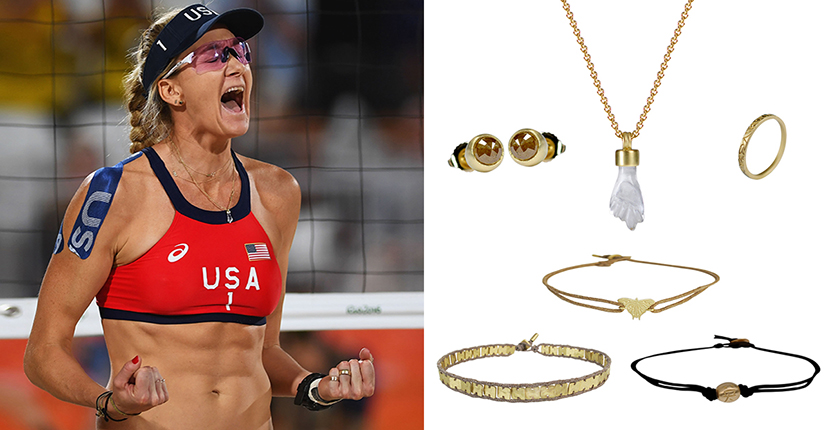 The Adventurine Posts The Best Jewelry at the Olympics is on the USA Beach Volleyball Team