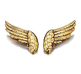 The AdventurinePostsRare Chanel Wings Designed by Verdura Soar on to the Market