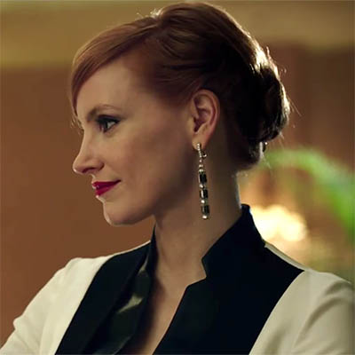 The Adventurine Posts Jessica Chastain is Bejeweled Like a Female James Bond in 'Miss Sloane'