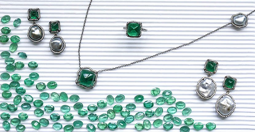 The Adventurine Posts Gemfields x Muse: Savannah Stranger's Sweet Sugarloaf Emerald Jewels