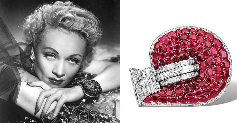 The Adventurine Posts Marlene Dietrich's Colossal Bracelet in 'Stage Fright'