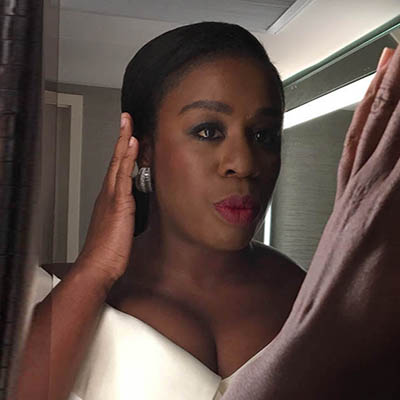 The Adventurine Posts Go Behind the Scenes of Uzo Aduba's Dazzling SAG Awards Look