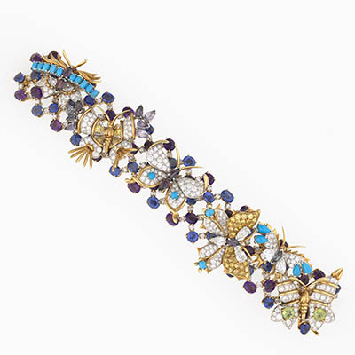 One of Bunny Mellon's Butterflies Bracelets by Schlumberger Photo courtesy of The Virginia Museum of Fine Arts