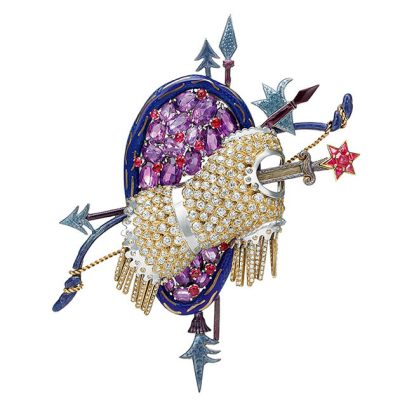 Diana Vreeland's Trophy of Love brooch by Jean Schlumberger Photo Tiffany & Co. Archives