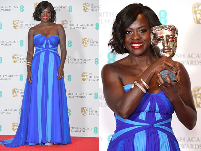 LONDON, UNITED KINGDOM - FEBRUARY 12: Viola Davis seen attending the press room, during the 70th British Academy Film Awards, held at the Royal Albert Hall on February 12, 2017 in London, England. PHOTOGRAPH BY Richard Kendal / Barcroft Media London-T:+44 207 033 1031 E:hello@barcroftmedia.com - New York-T:+1 212 796 2458 E:hello@barcroftusa.com - New Delhi-T:+91 11 4053 2429 E:hello@barcroftindia.com www.barcroftimages.com (Photo credit should read Richard Kendal / Barcroft Media / Barcroft Media via Getty Images)