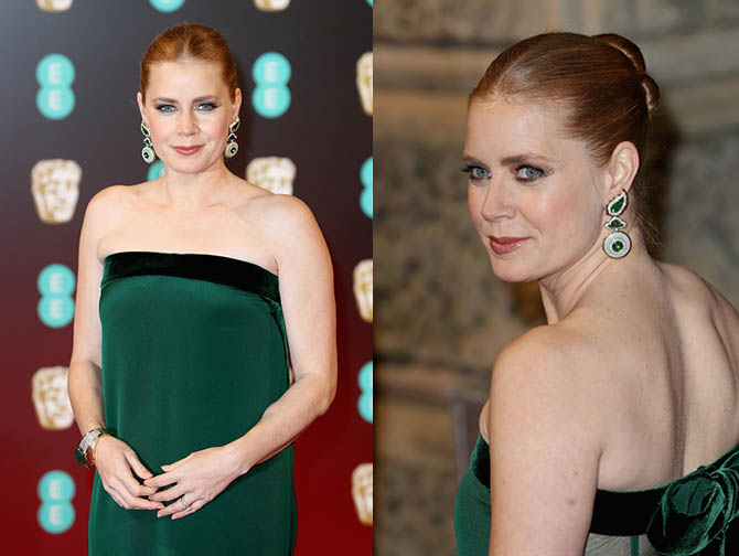 LONDON, ENGLAND - FEBRUARY 12: Actress Amy Adams attends the 70th EE British Academy Film Awards (BAFTA) at Royal Albert Hall on February 12, 2017 in London, England. (Photo by Chris Jackson/Getty Images)