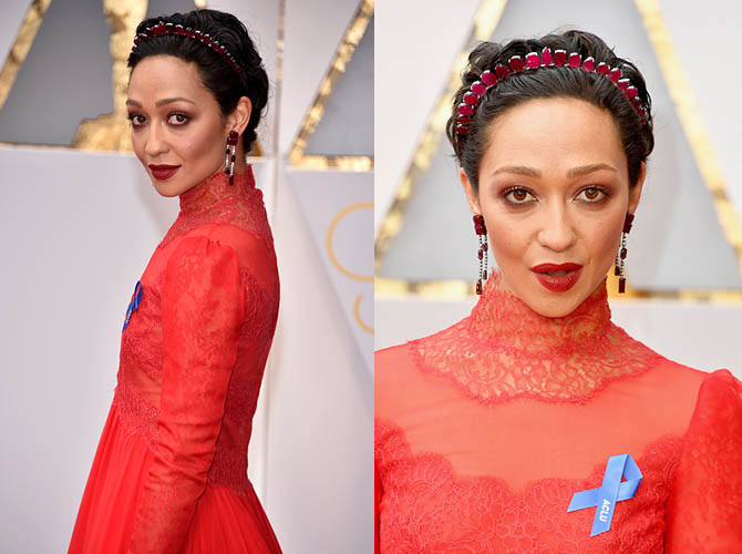 HOLLYWOOD, CA - FEBRUARY 26: Actor Ruth Negga attends the 89th Annual Academy Awards at Hollywood & Highland Center on February 26, 2017 in Hollywood, California. (Photo by Kevin Mazur/Getty Images)