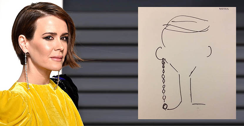 The Adventurine Posts Sarah Paulson's Stylist Designed Her Earrings