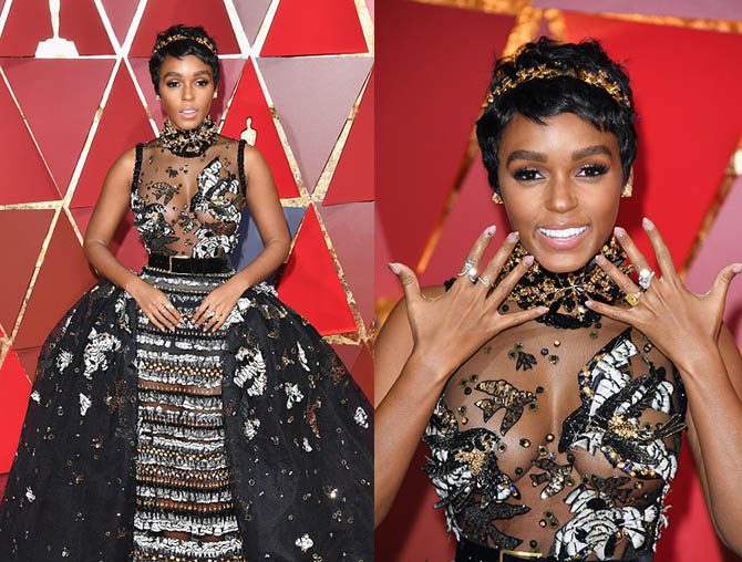 HOLLYWOOD, CA - FEBRUARY 26: Singer/actor Janelle Monae attends the 89th Annual Academy Awards at Hollywood & Highland Center on February 26, 2017 in Hollywood, California. (Photo by George Pimentel/FilmMagic)