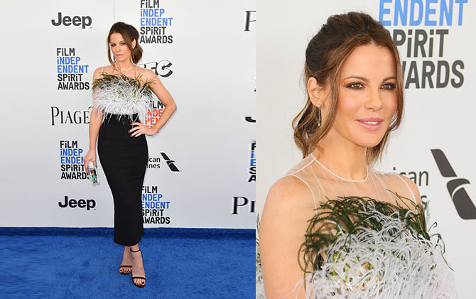 SANTA MONICA, CA - FEBRUARY 25: Actress Kate Beckinsale attends the 2017 Film Independent Spirit Awards at the Santa Monica Pier on February 25, 2017 in Santa Monica, California. (Photo by C Flanigan/FilmMagic)