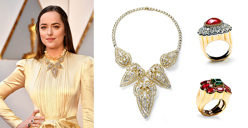 The Adventurine Posts Dakota Johnson's Oscars Jewels Are Priceless