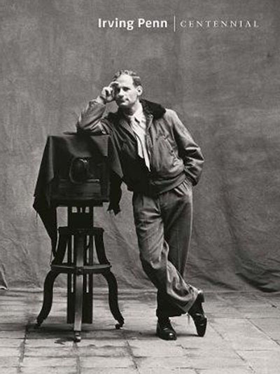 A self-portrait of Irving Penn is on the cover of the exhibition catalogue for 'Centennial'