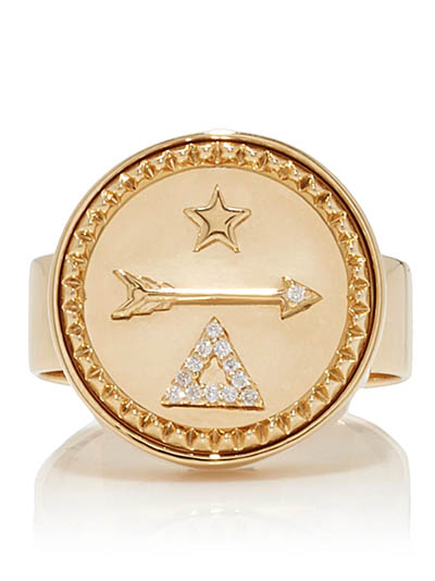 Foundrae Dream Signet Ring Photo via Moda Operandi