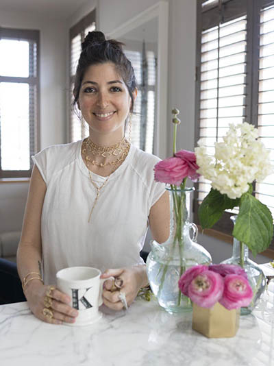 Designer Karma El Khalil at home in Brooklyn. Photo by Sally Davies