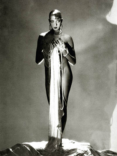 Josephine Baker wearing her set of three Jean Dunand jewels among other jewels for a 1929 'Vanity Fair' shoot. Photo by George Hoyningen-Huene