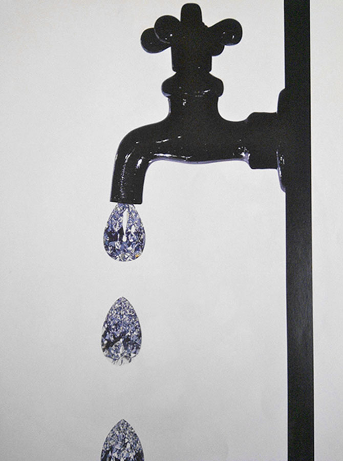 Faucet Dripping With Diamonds by Irving Penn