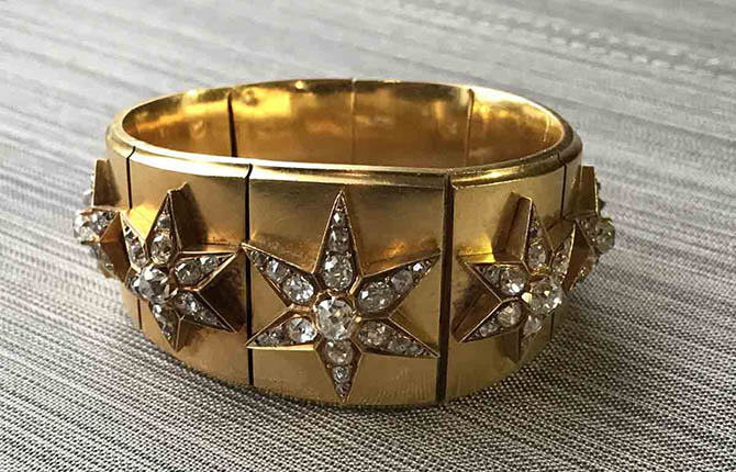 Late 19th century gold and diamond Star Bracelet by Mellerio dits Meller Photo by Sally Davies