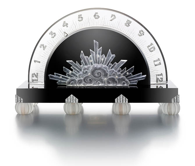 Retrograde Clock, 1927; Produced by Verger FrËres (Paris, France); Movement manufactured by Vacheron Constantin (Geneva, Switzerland); Black onyx, rock crystal, diamond; 16.5 ◊ 11 ◊ 5 cm (6 1/2 ◊ 4 5/16 ◊ 1 15/16 in.); Photo: Doug Rosa