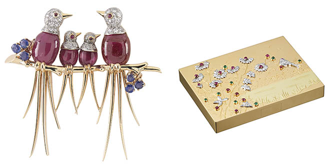 Bird Brooch and Compact Photo Patrick Gries © Van Cleef & Arpels