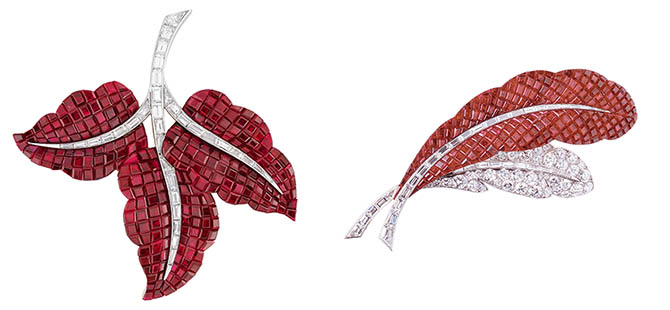 Van Cleef & Arpels Invisibly-set ruby and diamond jewels