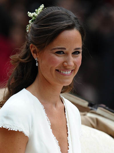 As the maid of honor at her sister's royal wedding in 2011, Pippa Middleton wore the same Robinson Pelham earrings she chose for her wedding day, May 20, 2017. Photo Getty