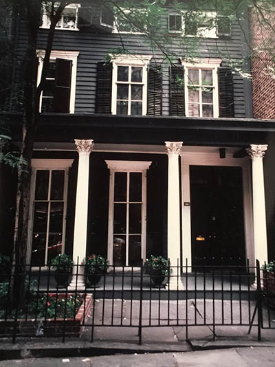 Jean Schlumberger's Federal Townhouse on 92nd Street in New York City where Elizabeth Locke lived when the French designer returned to Paris. Photo courtesy of Elizabeth Locke
