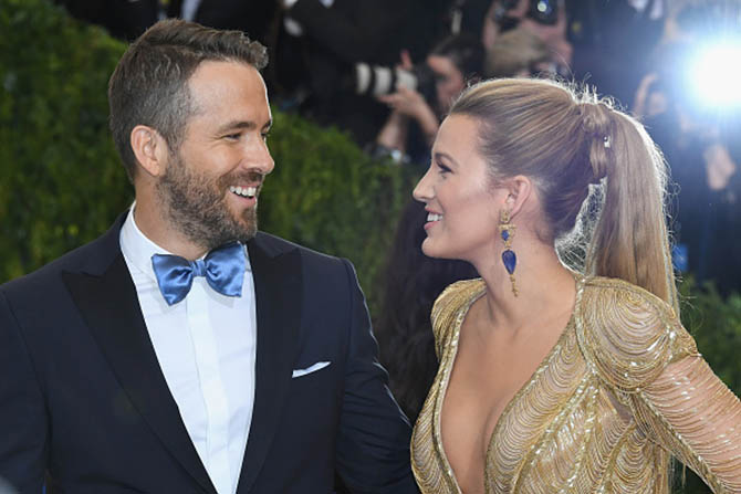 Ryan Reynolds and Blake Lively at the 2017 MET Gala