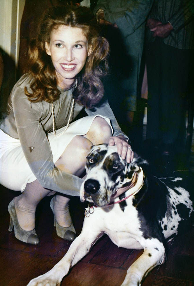 Elizabeth Locke with FrouFrou, one of her two Great Danes. Photo courtesy