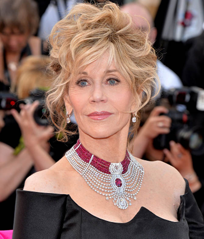 "CANNES, FRANCE - MAY 20: Jane Fonda attends the ""Youth"" premiere during the 68th annual Cannes Film Festival on May 20, 2015 in Cannes, France. (Photo by Anthony Harvey/FilmMagic)"