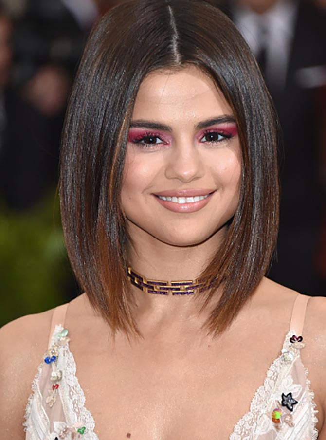 Selena Gomez in a vintage Tiffany choker Photo by John Shearer/Getty Images
