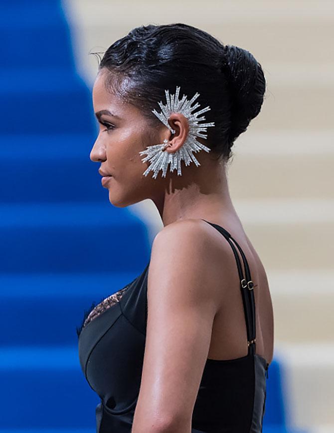Cassie in a custom Lynn Ban ear cuff