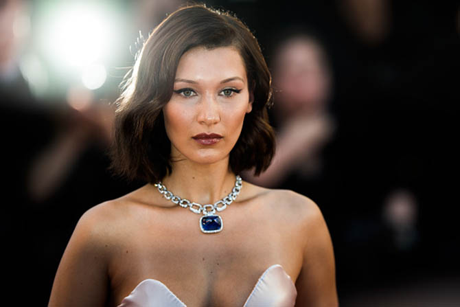 """CANNES, FRANCE - MAY 17: Bella Hadid attends the """"Ismael's Ghosts (Les Fantomes d'Ismael)"""" screening and Opening Gala during the 70th annual Cannes Film Festival at Palais des Festivals on May 17, 2017 in Cannes, France. (Photo by Matthias Nareyek/Getty Images)"""