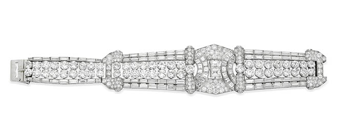 Drayson Deco diamond bracelet, London, c. 1938 from Simon Teakle
