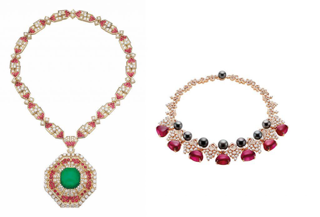 The Bulgari vintage and High Jewelry necklaces worn by Emily Ratajkowski Photo courtesy