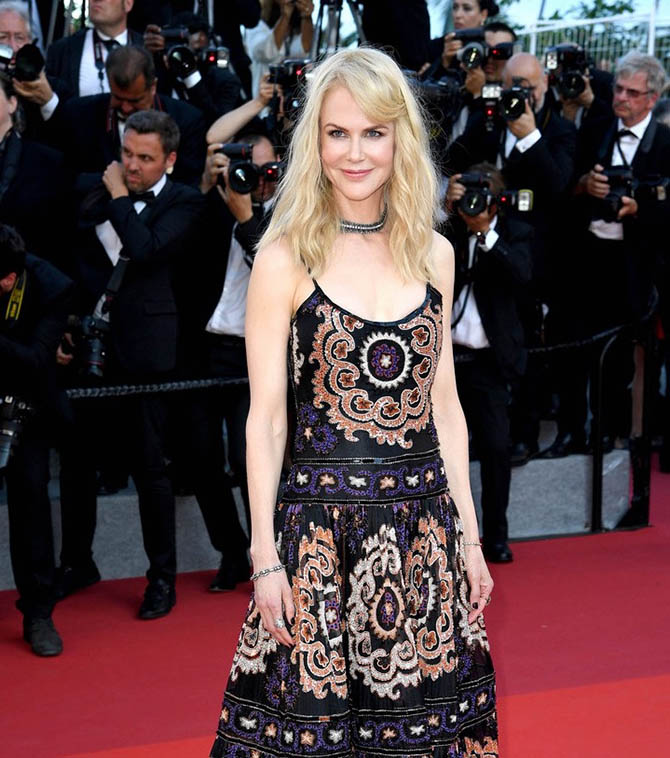 Nicole Kidman in Stephen Russell vintage jewelry at the 2017 Cannes Film Festival