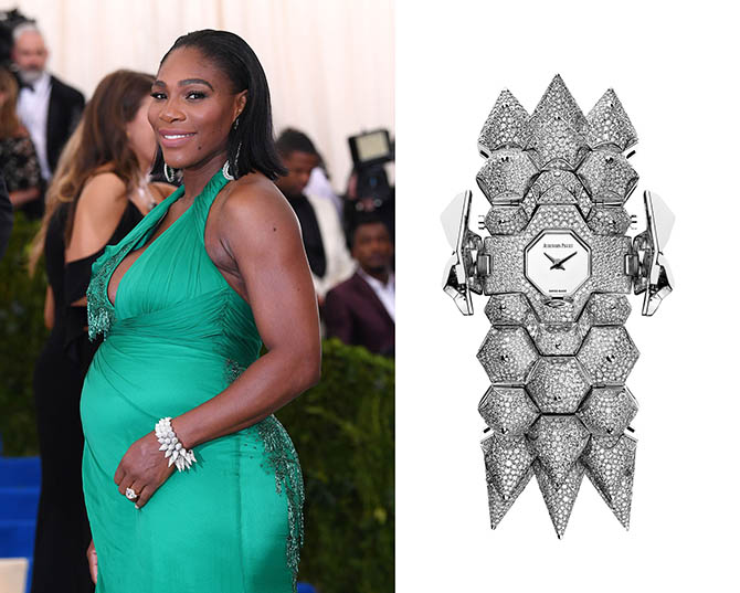 Serena Williams at the MET Gala in Audemars Piguet