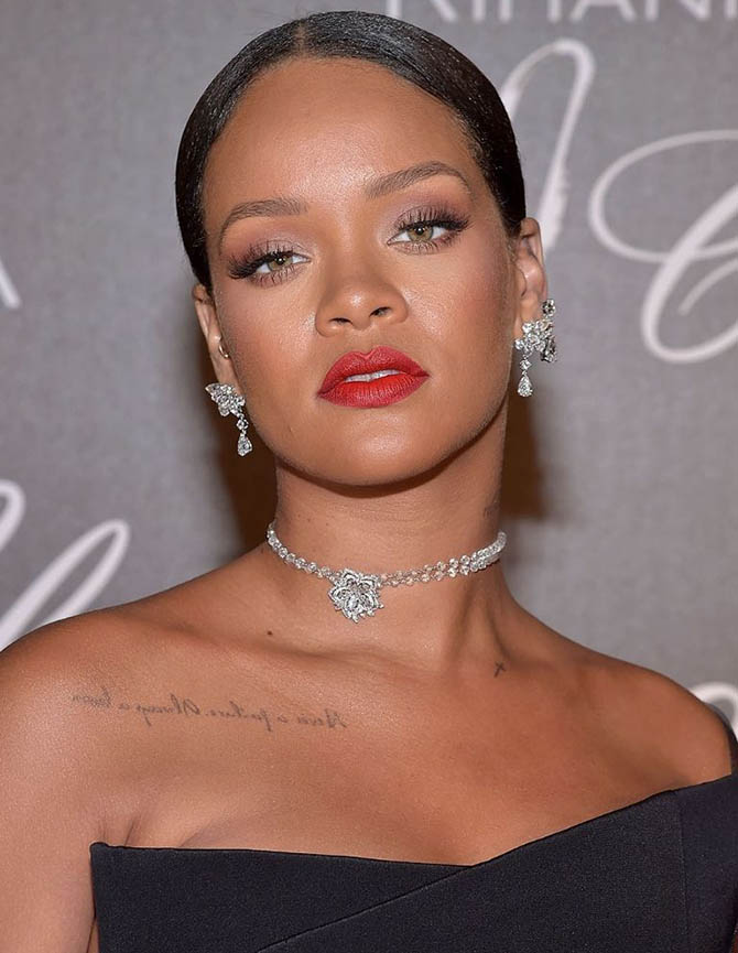 Rihanna in Chopard diamonds at Cannes