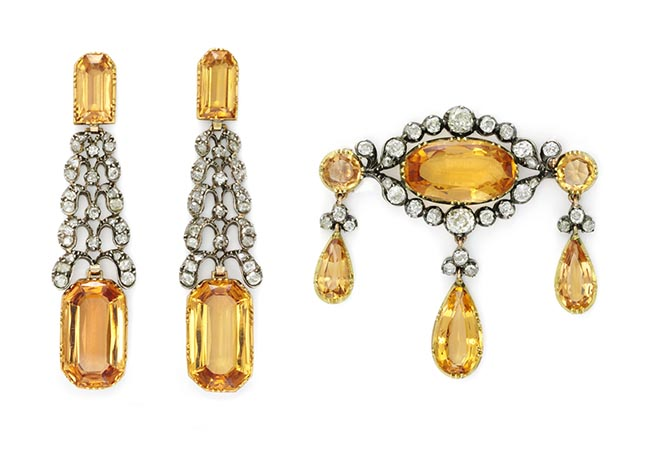 Antique Imperial Topaz Demi Parure, c. 1770 from Simon Teakle