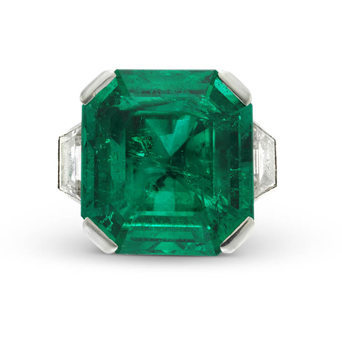 13.30 carat emerald ring, circa 1930 from Simon Teakle
